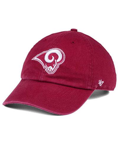 '47 Brand Los Angeles Rams Cardinal CLEAN UP Cap