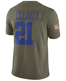 Nike Men's Ezekiel Elliott Dallas Cowboys Salute To Service Jersey