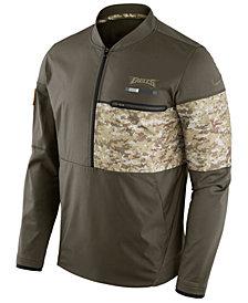 Nike Men's Philadelphia Eagles Salute To Service Hybrid Half-Zip Jacket