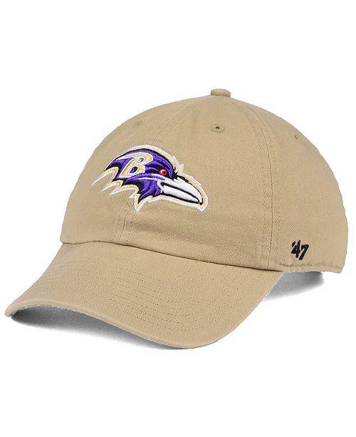 '47 Brand Baltimore Ravens Khaki CLEAN UP Cap