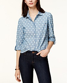 Cotton Printed Roll-Tab Utility Shirt