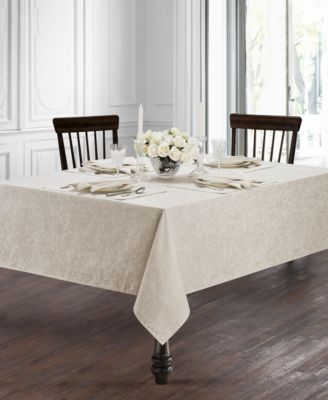 """Peony Taupe 70"""" x 104"""" Tablecloth"""