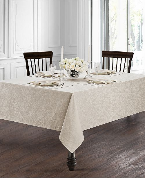Waterford Peony Taupe Table Linens Collection