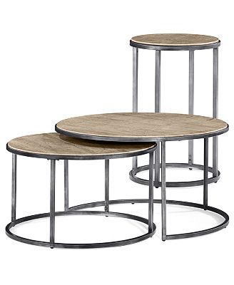Monterey Round Tables 2 Piece Set Nesting Coffee Table