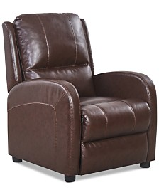 Gaston Leather Recliner, Quick Ship
