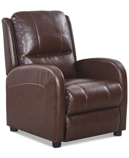 Abbyson Living Gaston Leather Recliner, Quick Ship