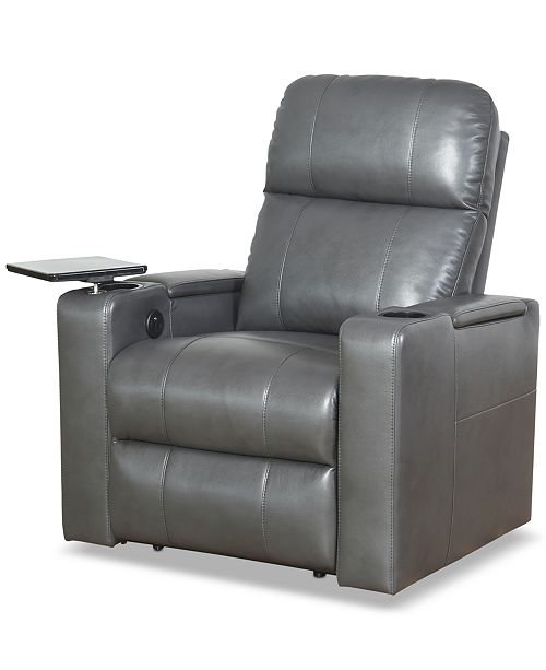 Sunday Theory Thomas Leather Power Recliner Quick Ship Furniture