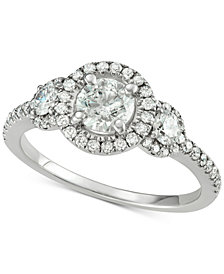 Diamond Triple Halo Engagement Ring (1-5/8 ct. t.w.) in 14k White Gold