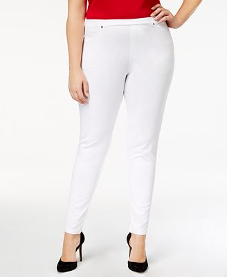 Style & Co Plus Size Knit Twill Leggings, Created for Macy's