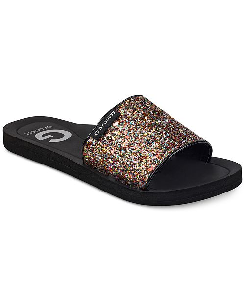 c4b05d156ccae G by GUESS Tomie Slides   Reviews - Sandals   Flip Flops - Shoes ...