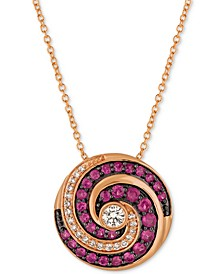 Extraterrestrials® Passion Ruby™ (1/2 ct. t.w.) & Diamond (1/5 ct. t.w.) Pendant Necklace in 14k Rose Gold