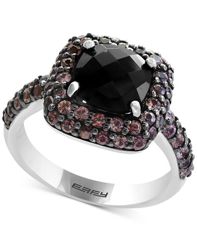 Balissima by EFFY® Smoky Quartz (2-1/10 ct. t.w.) & Brown Sapphire (1-1/5 ct. t.w.) Ring in Sterling Silver