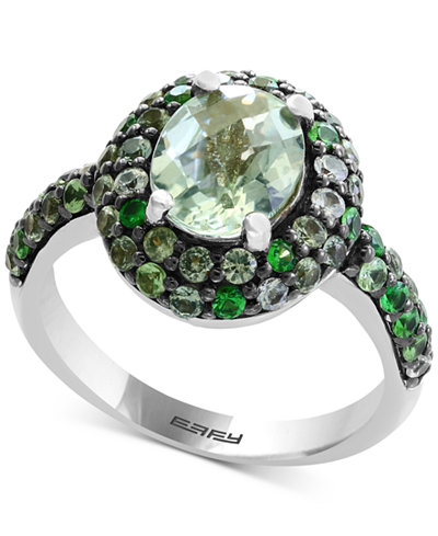 Balissima by EFFY® Multi-Gemstone Oval Ring (2-9/10 ct. t.w.) in Sterling Silver