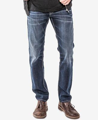 Mens Allan Slim Silver Jeans Co