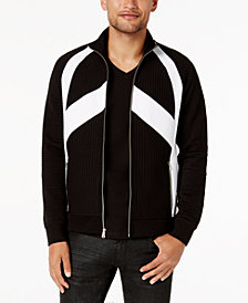 I.N.C. Men's Pieced Zip-Front Jacket, Created for Macy's