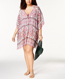 Becca ETC Plus Size Granada Printed Tunic Cover-Up