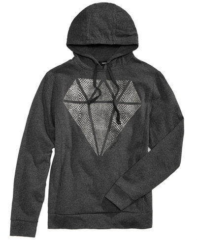 Ring of Fire Men's Snake Diamond Graphic Hoodie