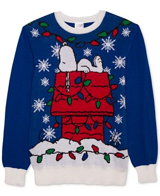 Hybrid Mens Snoopy Decorated Holiday Sweater Sweaters Men Macys