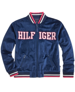 Tommy Hilfiger Velour Track Jacket Big Girls (716)