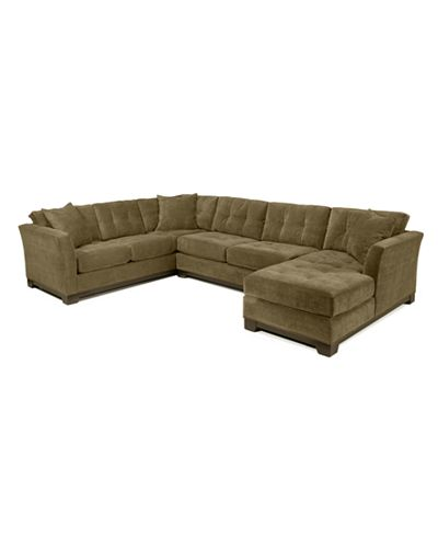 Elliot 3 Pc Microfiber Sectional With Sleeper Sofa