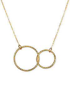 Interlocking Circle Pendant Necklace in 10k Gold
