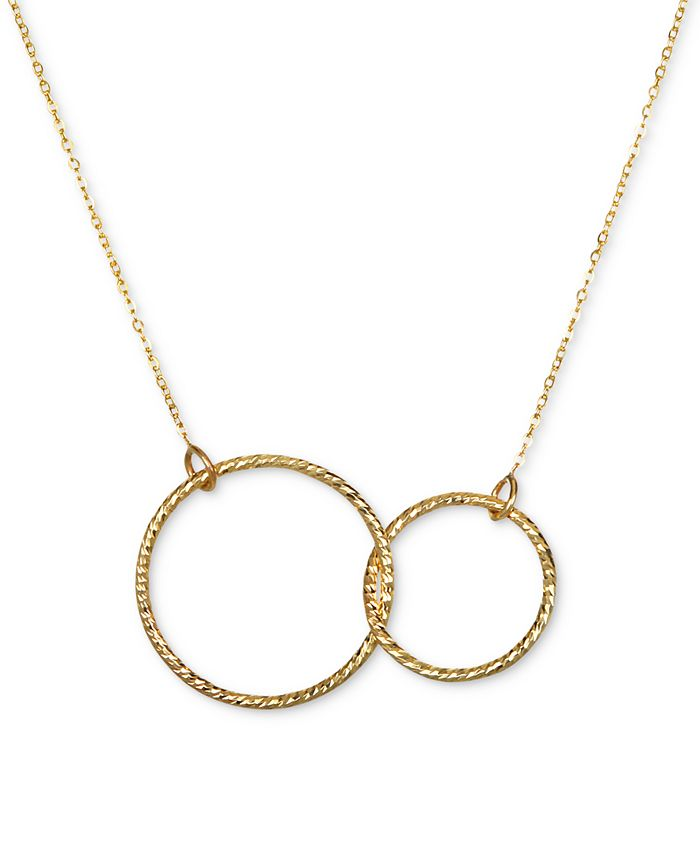 Macy's - Interlocking Circle Pendant Necklace in 10k Gold
