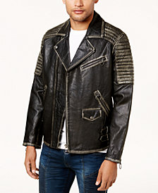 True Religion Men's Leather Moto Jacket