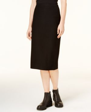 Eileen Fisher Ribbed Pencil Skirt, Created for Macy's, Regular & Petite thumbnail