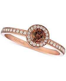 Red Carpet® Diamond Halo Ring (3/8 ct. t.w.) in 14k Rose Gold