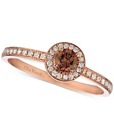 Le Vian Red Carpet® Diamond Halo Ring (3/8 ct. t.w.) in 14k Rose Gold