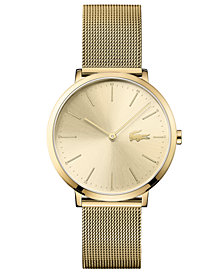 Lacoste Women's Moon Ultra Slim Gold-Plated Stainless Steel Bracelet Watch 35mm