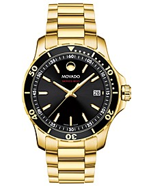 Men's Swiss Series 800 Gold-Tone PVD Stainless Steel Bracelet Diver Watch 40mm