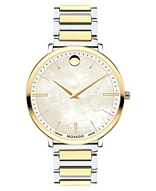 Women's Swiss Ultra Slim Gold-Tone PVD & Stainless Steel Bracelet Watch 35mm
