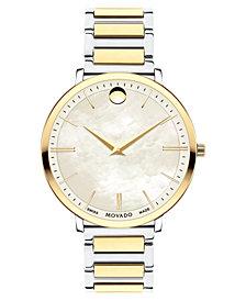 Movado Women's Swiss Ultra Slim Gold-Tone PVD & Stainless Steel Bracelet Watch 35mm