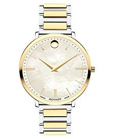 Movado Women's Swiss Ultra Slim Gold-Tone PVD & Stainless Steel Bracelet Watch 35mm