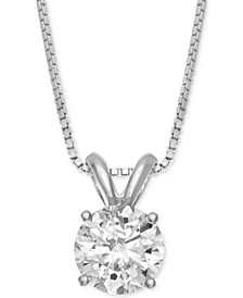 Solitaire Pendant Necklace (1 ct. t.w.) in 14k Gold or White Gold