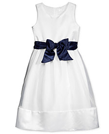 Lavender by US Angels Contrast Sash Dress, Toddler Girls