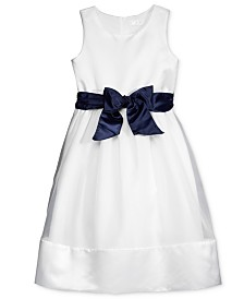 Lavender by US Angels Contrast Sash Dress, Little Girls