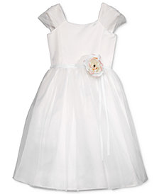 Lavender by US Angels Floral Appliqué Dress, Little Girls
