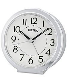 White & Silver-Tone Alarm Clock