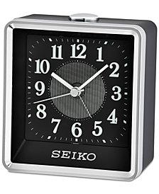 Seiko Black & Silver-Tone Alarm Clock