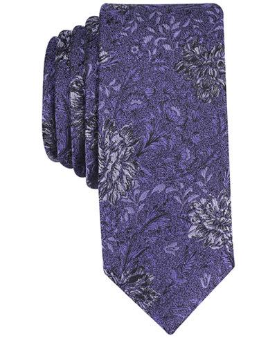 Bar III Men's Havana Floral Skinny Tie, Created for Macy's