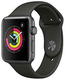 Apple Watch Series 3 (GPS), 42mm Space Gray Aluminum Case with Gray Sport Band