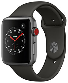 Apple Watch Series 3 (GPS + Cellular),  42mm Space Gray Aluminum Case with Gray Sport Band