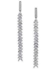 Diamond Cascading Linear Drop Earrings (1 ct. t.w.) in 14k White Gold