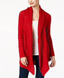 Style & Co Petite Shawl-Collar Cardigan, Created for Macy's