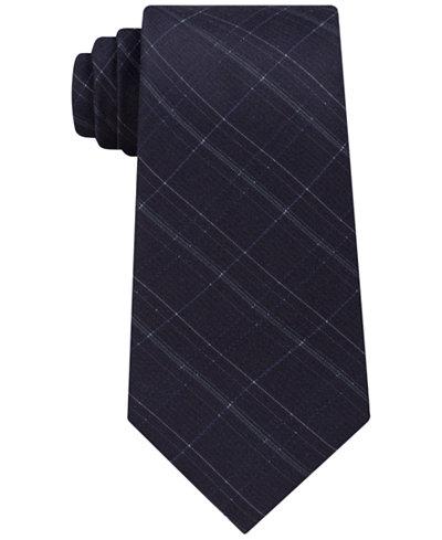 Calvin Klein Men's Debossed Grid Silk Tie