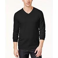 Macys deals on Alfani Mens V-Neck Sweater