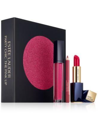 Estée Lauder 3-Pc. Party Chic The Pink Lip Gift Set - Makeup ...