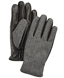 Ryan Seacrest Distinction™ Men's Mixed-Media Gloves, Created for Macy's
